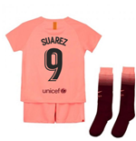 2018-2019 Barcelona Third Nike Little Boys Mini Kit (Suarez 9)