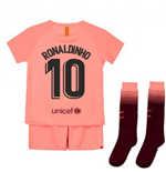 2018-2019 Barcelona Third Nike Little Boys Mini Kit (Ronaldinho 10)
