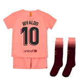 2018-2019 Barcelona Third Nike Little Boys Mini Kit (Rivaldo 10)