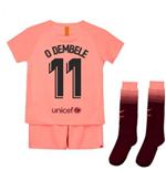 2018-2019 Barcelona Third Nike Little Boys Mini Kit (O Dembele 11)