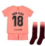 2018-2019 Barcelona Third Nike Little Boys Mini Kit (Jordi Alba 18)