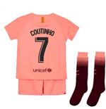 2018-2019 Barcelona Third Nike Little Boys Mini Kit (Coutinho 7)