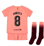 2018-2019 Barcelona Third Nike Little Boys Mini Kit (A.Iniesta 8)