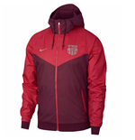 2018-2019 Barcelona Nike Authentic Windrunner Jacket (Deep Maroon)