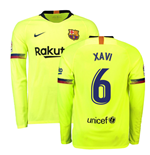 2018-2019 Barcelona Away Nike Long Sleeve Shirt (Xavi 6)