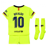 2018-2019 Barcelona Away Nike Little Boys Mini Kit (Rivaldo 10)