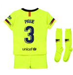 2018-2019 Barcelona Away Nike Little Boys Mini Kit (Pique 3)