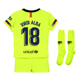 2018-2019 Barcelona Away Nike Little Boys Mini Kit (Jordi Alba 18)