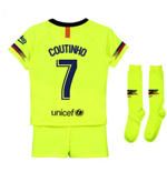 2018-2019 Barcelona Away Nike Little Boys Mini Kit (Coutinho 7)