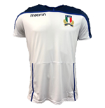2018-2019 Italy Macron Rugby Poly Training Shirt (White)