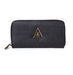 ASSASSIN'S CREED Odyssey Metal Logo Badge Premium Ladies Wallet Purse with All-round Zip, Female, One Size, Black