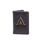 ASSASSIN'S CREED Odyssey Metal Logo Badge Premium Card Wallet, Male, One Size, Black