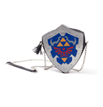 NINTENDO Legend of Zelda Hylian Shield Shaped Ladies Shoulder Bag with Chain Shoulder Strap, Female, Multi-colour