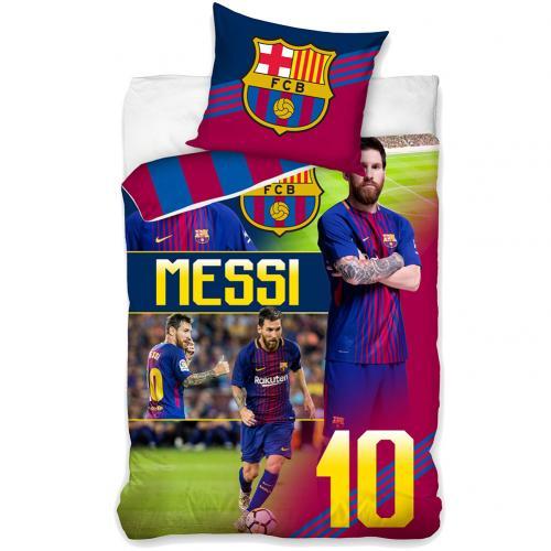 Official F C Barcelona Single Duvet Set Messi Buy Online On Offer
