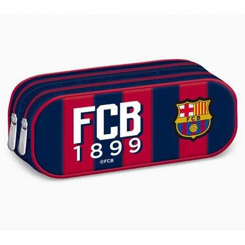 F.C. Barcelona Double Zip Pencil Case