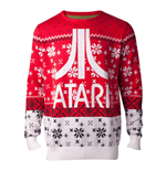 ATARI Logo Christmas Knitted Sweater, Male, Extra Large, Multi-colour