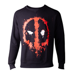 MARVEL COMICS Deadpool Dripping Mask Sweater, Male, Extra Extra Large, Black