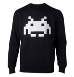 SPACE INVADERS Chenille Invaders Sweater, Male, Large, Black