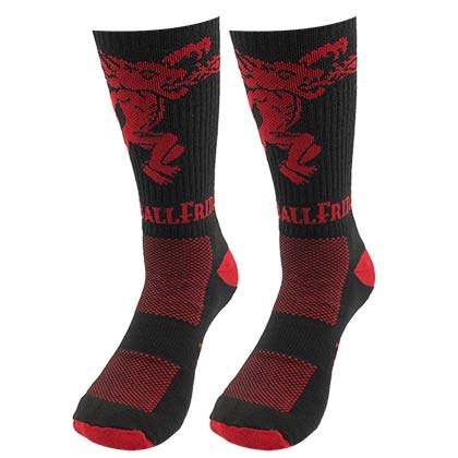 Fireball Friday Red And Black Socks