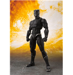 Avengers Infinity War S.H. Figuarts Action Figure Black Panther & Tamashii Effect Rock 16 cm