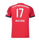 2018-2019 Bayern Munich Adidas Home Football Shirt (Boateng 17)