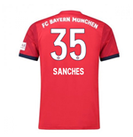 2018-2019 Bayern Munich Adidas Home Football Shirt (Sanches 35)