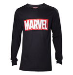 Marvel - Marvel Logo Black Men's Longsleeve