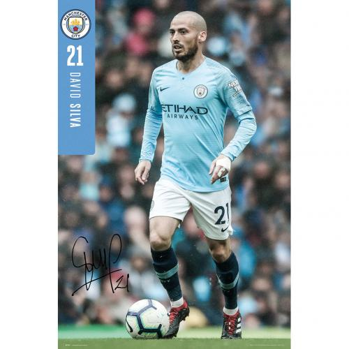 Manchester City F.C. Poster Silva 27