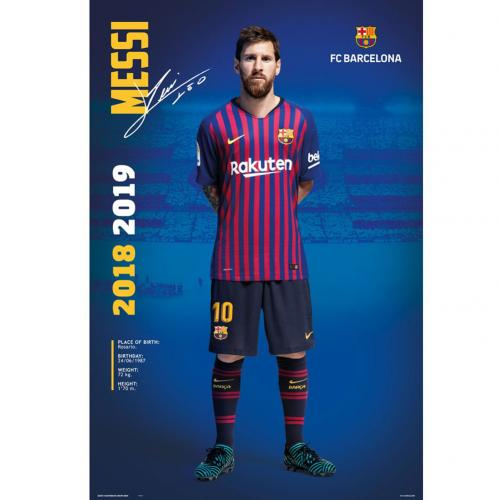 F.C. Barcelona Poster Messi 24