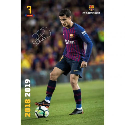 F.C. Barcelona Poster Coutinho 18