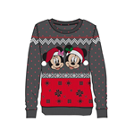 Disney Ladies Knitted Christmas Sweater Mickey & Minnie