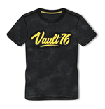 FALLOUT 76 Vault 76 Logo Oil Washed T-Shirt, Male, Large, Black