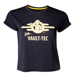 FALLOUT 76 Join Vault-tec T-Shirt, Female, Large, Black