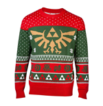 NINTENDO Legend of Zelda Royal Hyrule Crest Christmas Knitted Sweater, Male, Extra Large, Multi-colour