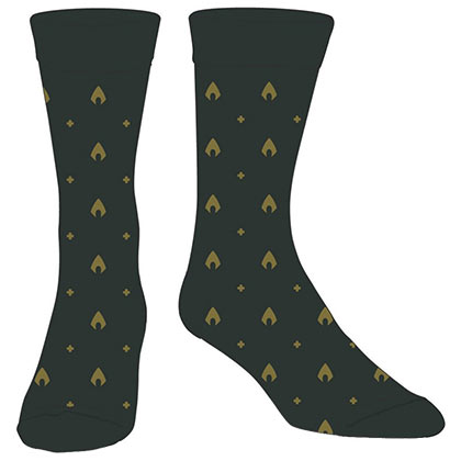 AQUAMAN Logo Green Dress Socks