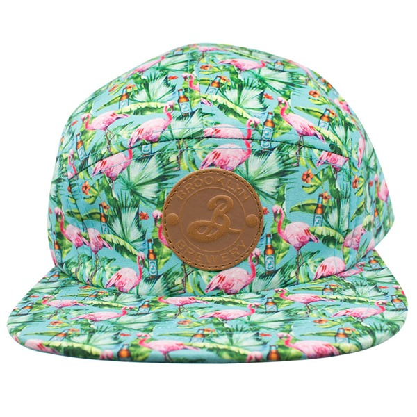 BROOKLYN BREWERY Flamingos Green 5 Panel Hat