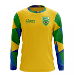 2018-2019 Brazil Long Sleeve Home Concept Football Shirt (Kids)