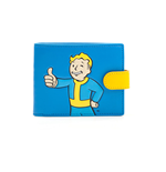 FALLOUT 4 Vault Boy Approved Bi-fold Wallet, Male, Blue/Yellow