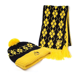 POKEMON Pikachu Beanie and Scarf Gift Set, Unisex, One Size, Yellow/Black