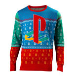 SONY Playstation Tokio Christmas Knitted Sweater, Unisex, Small, Multi-colour