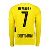 2017-18 Borussia Dortmund Long Sleeve Home Shirt (Dembele 7)