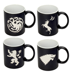 Game of Thrones Mug 4-Pack Logos Collector's Edition
