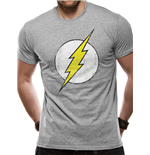 The Flash - Distressed Logo - Unisex T-shirt Grey