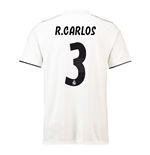 2018-19 Real Madrid Home Football Shirt (R Carlos 3) - Kids