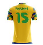 2018-2019 Brazil Home Concept Football Shirt (Paulinho 15)