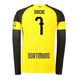 2018-2019 Borussia Dortmund Home Long Sleeve Puma Shirt (Sancho 7)