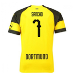 2018-2019 Borussia Dortmund Puma Home Football Shirt (Sancho 7) - Kids