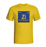 Zlatan Ibrahimovic Sweden Periodic Table T-shirt (yellow) - Kids