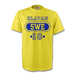 Zlatan Ibrahimovic Sweden Swe T-shirt (yellow) - Kids