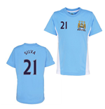 Official Man City Training T-Shirt (Sky Blue) (Silva 21)